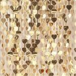 Heart Shimmer Curtain - 91cm x 240cm