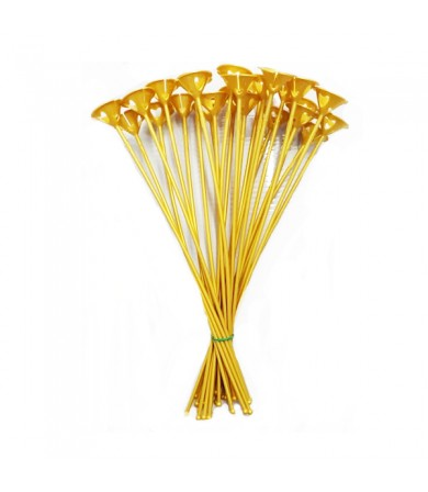 BALLOON STICK & CUP 36.5CM - GOLD - 1000