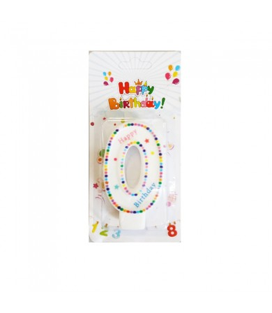 Candle - Numbering HB Colourful Dots Border