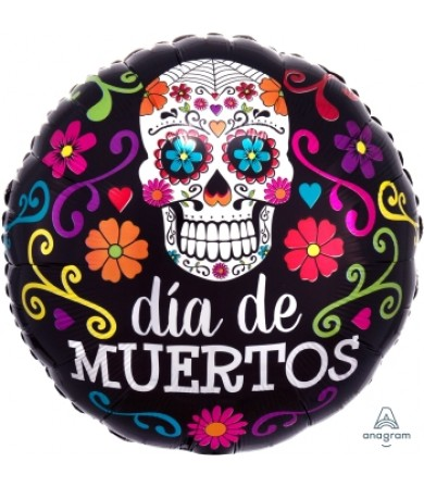 "35901 Colorful Dia de Muertos (18"")"