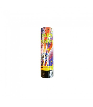 15.5cm Confetti Popper - Colourful Foil Strimmers
