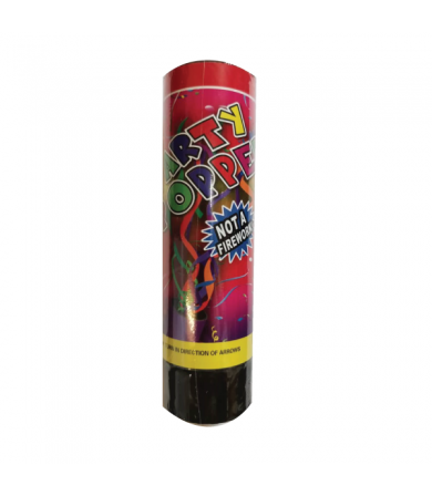 15.5cm Confetti Popper - Colourful Foil Strimmers