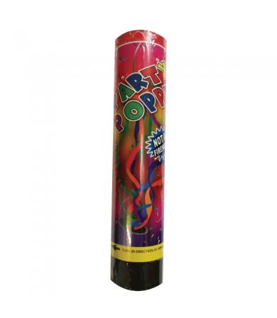 20.5cm Confetti Popper - Colourful Foil Strimmers