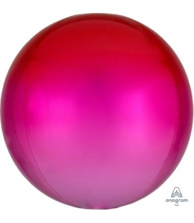 """40553 Ombré Orbz™ Red & Pink(16"""")"""
