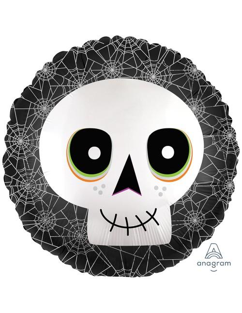 "39990 Satin Inflused Halloween Skull (18"")"