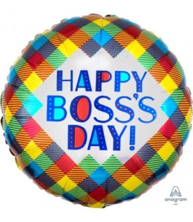 "38130 Boss's Day Plaid (18"")"
