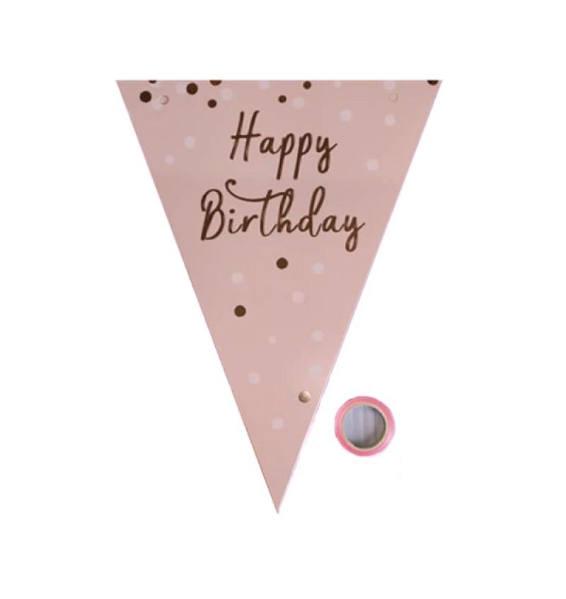 Triangle Flag - Happy Birthday