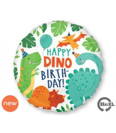 "40667  Happy Dino Happy Birthday (18"")"