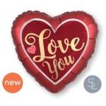 40551 Satin Sangria & Gold Love - Mini Shape