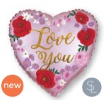 """40587 Love You Painted Floral (4"""")"""