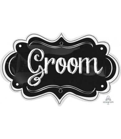 31238 Groom Chalkboard Marquee - SuperShape