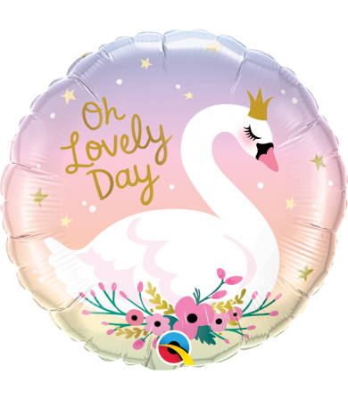 "10371 Oh Lovely Day Swan (18"")"
