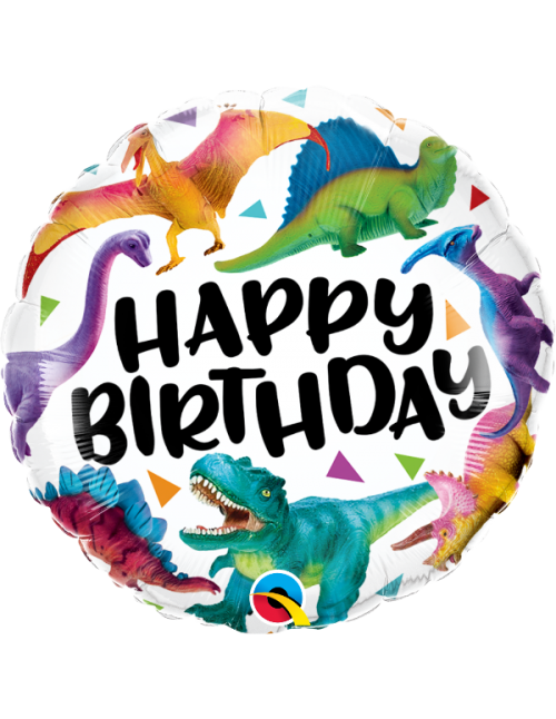 "97382- Birthday Colorful Dinosaurs (18"")"