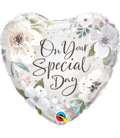 "10489 - Special Day White Floral (18"")"