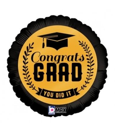 """32669 Congrats Grad Gold (9"""")"""
