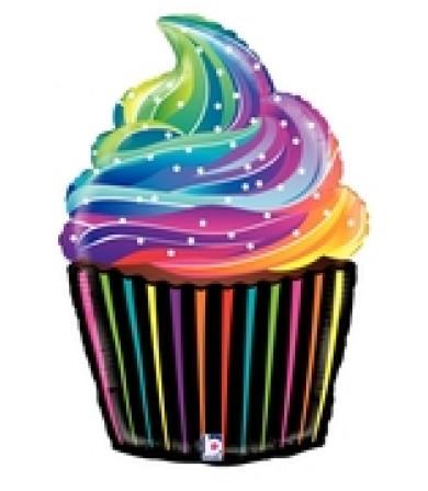 """35856P Rainbow Cupcake (18"""")"""