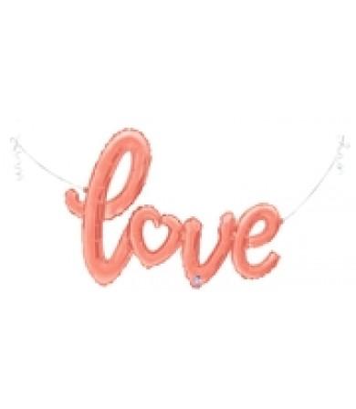 """35718 Love Script - Rose Gold (47"""")"""