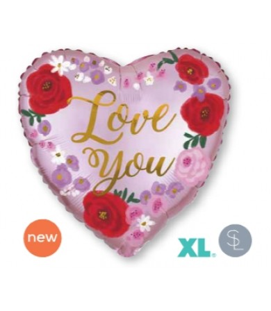 """40544 - Satin Love You Painted Floral (18"""")"""