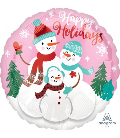 "40101 Happy Holidays Snow Family - (18"")"