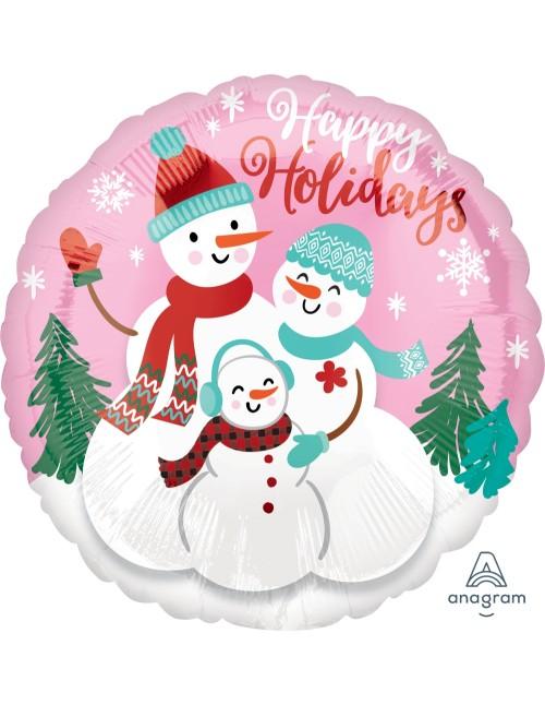 """40101 Happy Holidays Snow Family - (18"""")"""