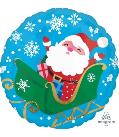 "40109 Happy Santa in Sleigh - (18"")"