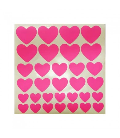 Sticker - Heart - Pkt