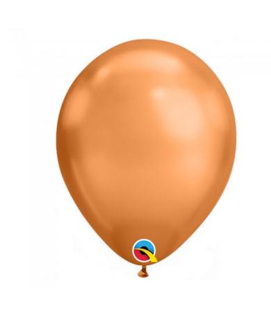 "Qualatex 11"" Round Balloon Chrome Copper ( 10 )"