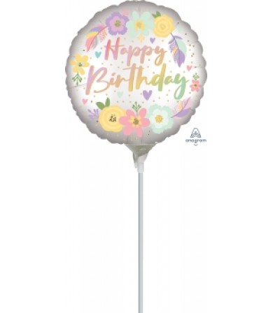 "41322 Boho Birthday Satin Flowers - (4"")"