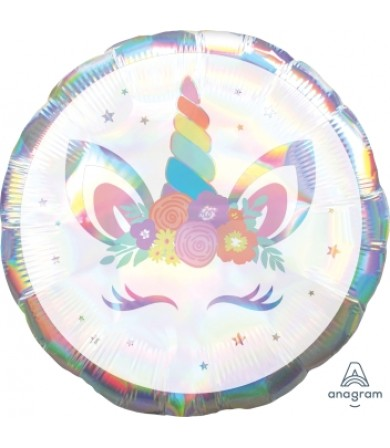 """40808 Unicorn Party Iridescent (18"""")"""