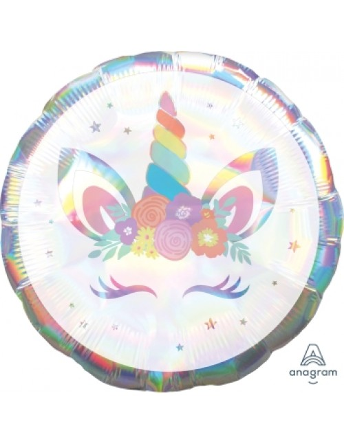 "40808 Unicorn Party Iridescent (18"")"