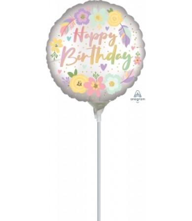 "41321 Boho Birthday Satin Flowers (9"")"