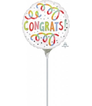 "41140 Congrats Swirls (9"")"