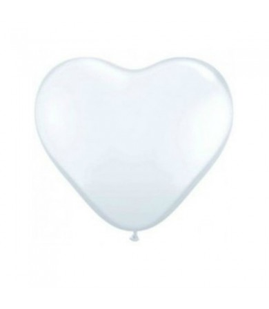 T BALLOON HEART SHAPE CLEAR 490MM