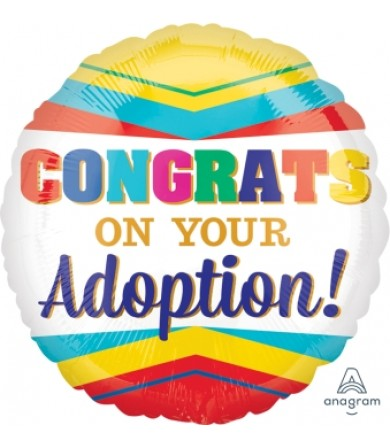 "34102 CONGRATULATIONS ON YOUR ADOPTION (18"")"