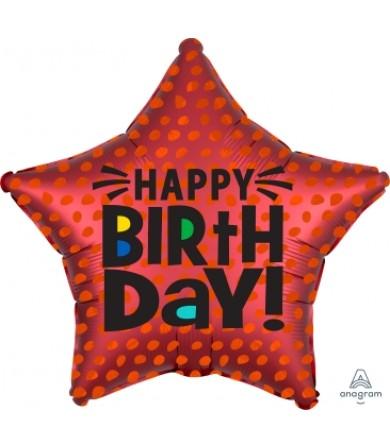 "41317 Satin Infused Star Birthday (18"")"