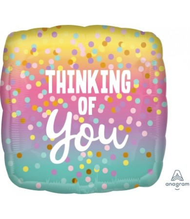 "41161 Thinking of You Pastel Dots  (18"")"
