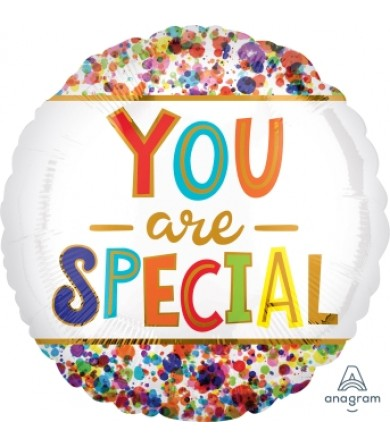 "41182 You Are Special Watercolor Dots (18"")"