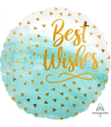 "41172 Best Wishes Gold Confetti (18"")"