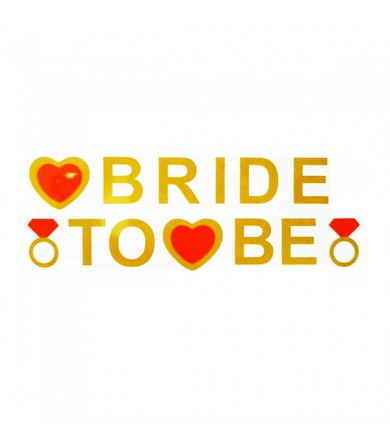 Letter Banner - Bride To Be Gold with Red Heart
