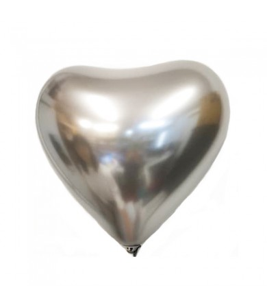 "Atex 12"" Heart Shaped Satin Luxe Platinum 803"