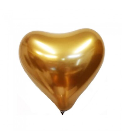 "Atex 12"" Heart Shaped Satin Luxe Gold Sateen 819"