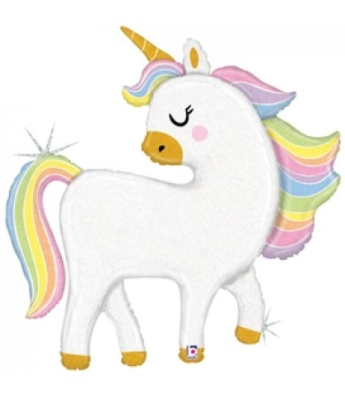 "35952P - Glitter Pastel Unicorn (48"")"