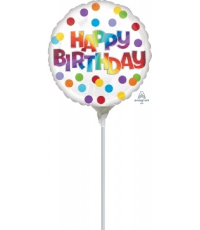 "41326 Happy Birthday Dots of Color - (4"")"