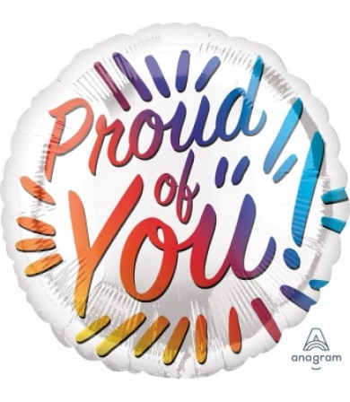 "41158 Proud of You Rainbow Letters (18"")"