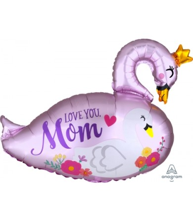 40833 Satin Infused Mama & Baby Swan - SuperShape