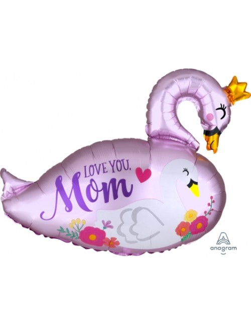 40833 Satin Infused Mama & Baby Swan - SuperShape