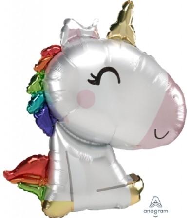 41217 Satin Sitting Unicorn - SuperShape