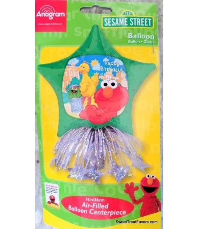 16280 - Sesame Street Elmo Centerpiece Air-Filled Balloon Table Decoration Kit 14in Baby