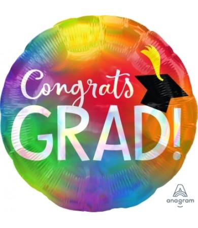 """40938 Iridescent Congrats Grad (18"""")"""