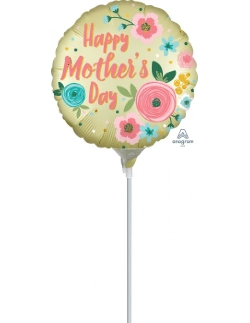 """40867 Happy Mother Day Satin Infused Pastel Yellow (4"""")"""